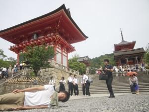 京都府清水寺にて。横不動×清水寺