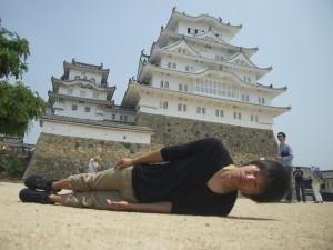 兵庫県姫路市にて。横不動×姫路城
