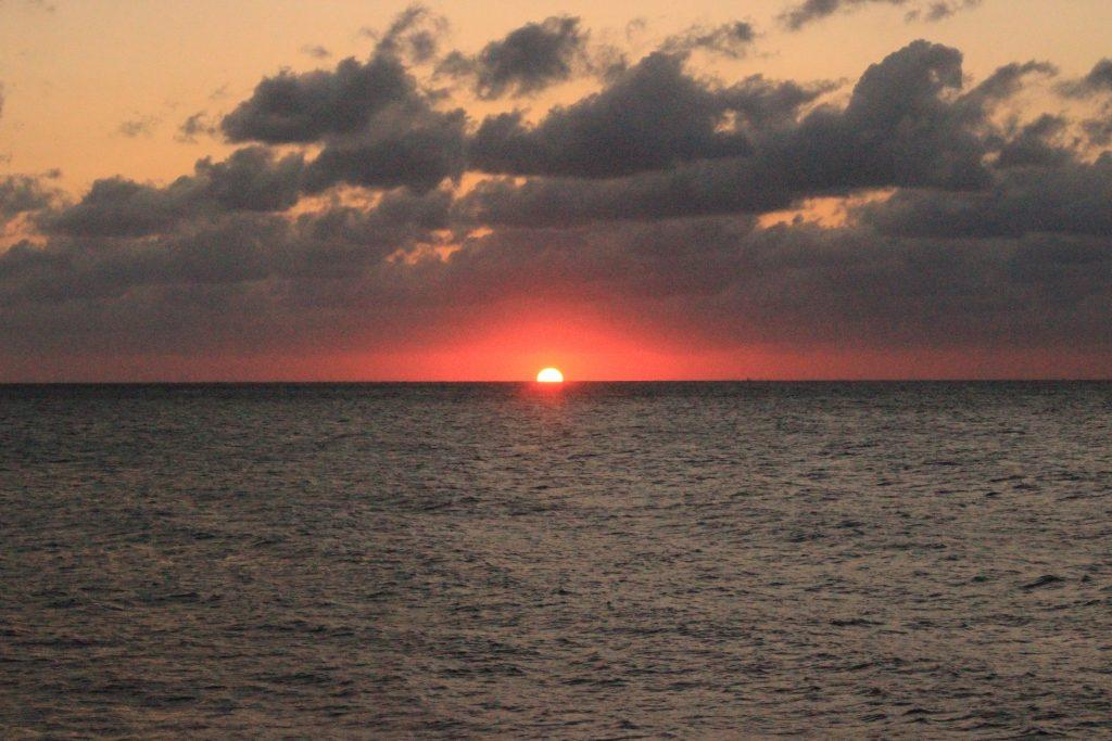 キューバで見た日の入り。